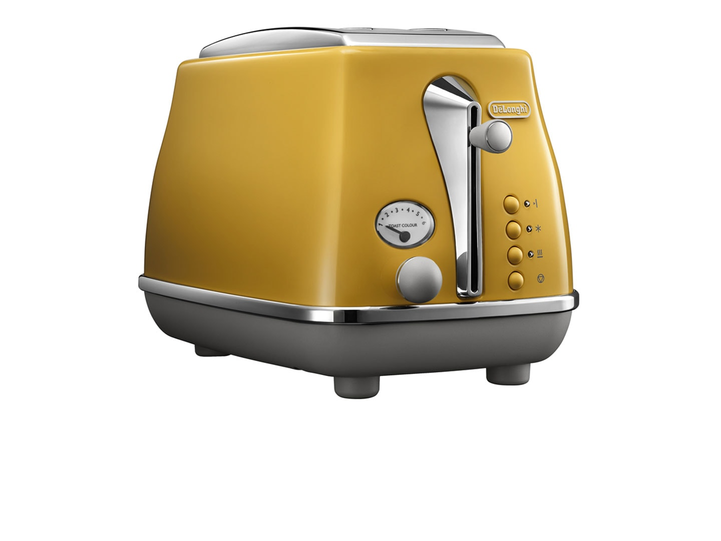 DeLonghi Icona Capitals 2 Slice Toaster - New York Yellow CTOC 2003.Y