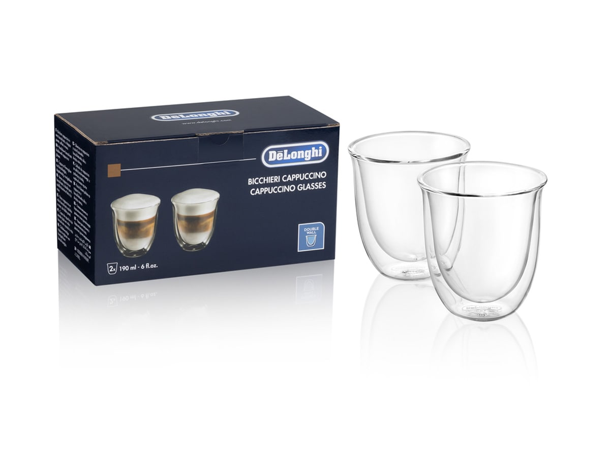 2 Cappuccino Double Wall Glasses