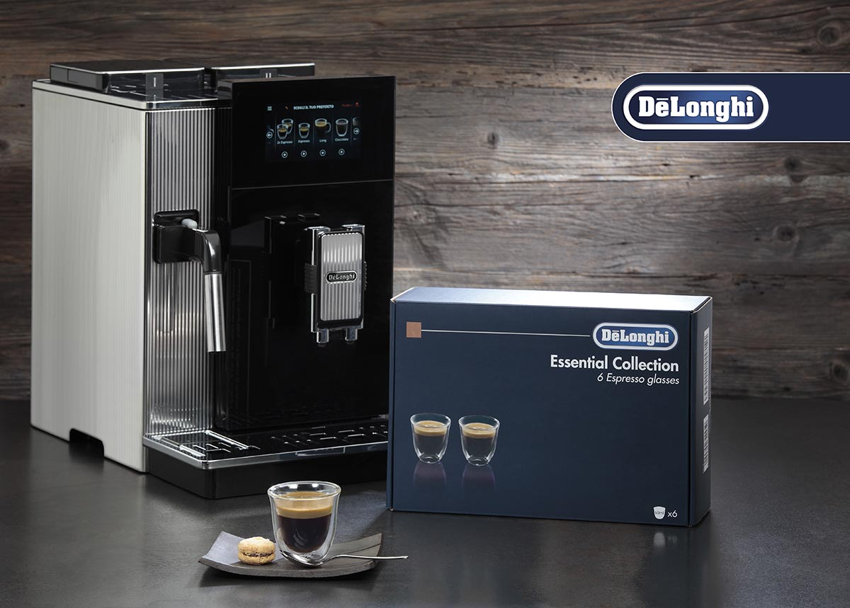 De'Longhi Essential Collection (6) Glass Gift Set - Espresso Double Wall Thermal Glasses -  - DLSC300