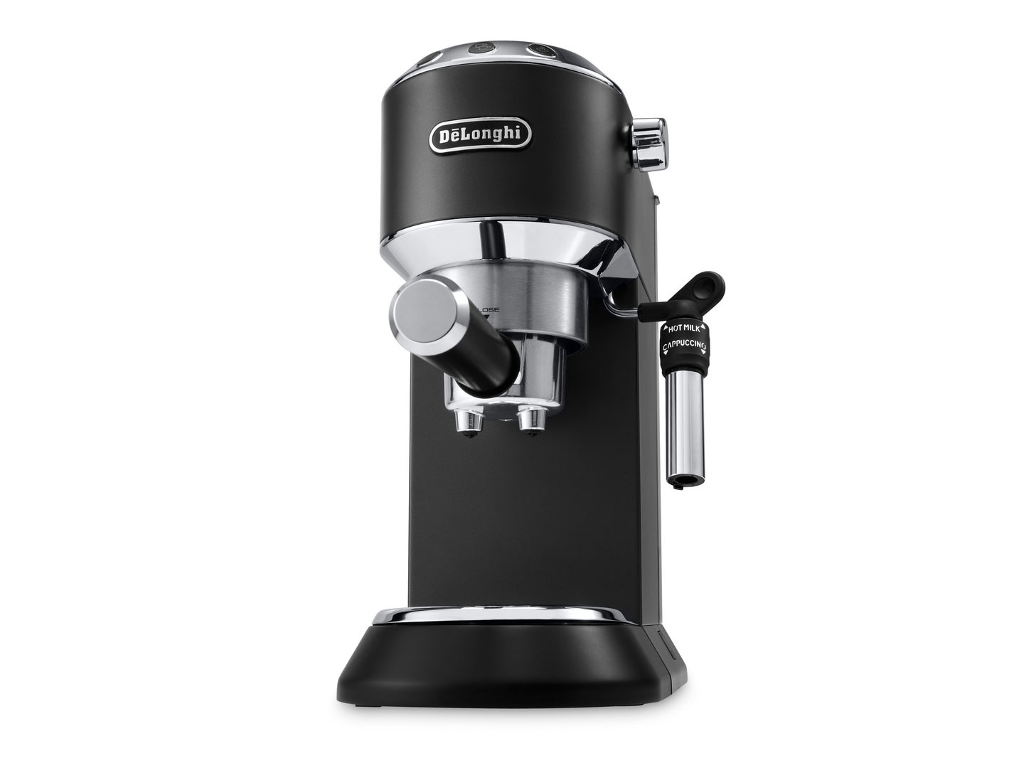 Dedica DeLuxe Manual Espresso Machine, Cappuccino Maker - Black -  - EC685BK