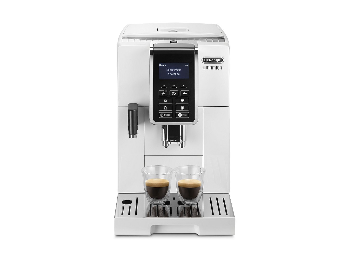 Delonghi espresso machine ECAM35055W  Dinamica makes flat white in one touch