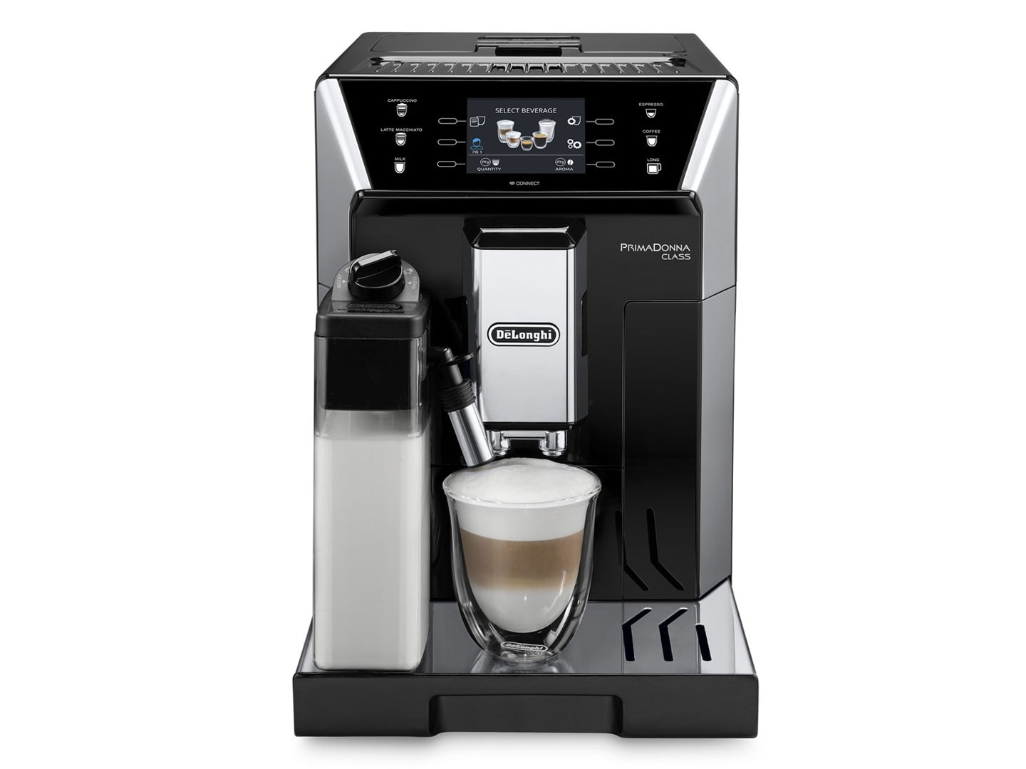 PrimaDonna Class ECAM 55055SB Fully Automatic Coffee Machine FRONT PICTURE