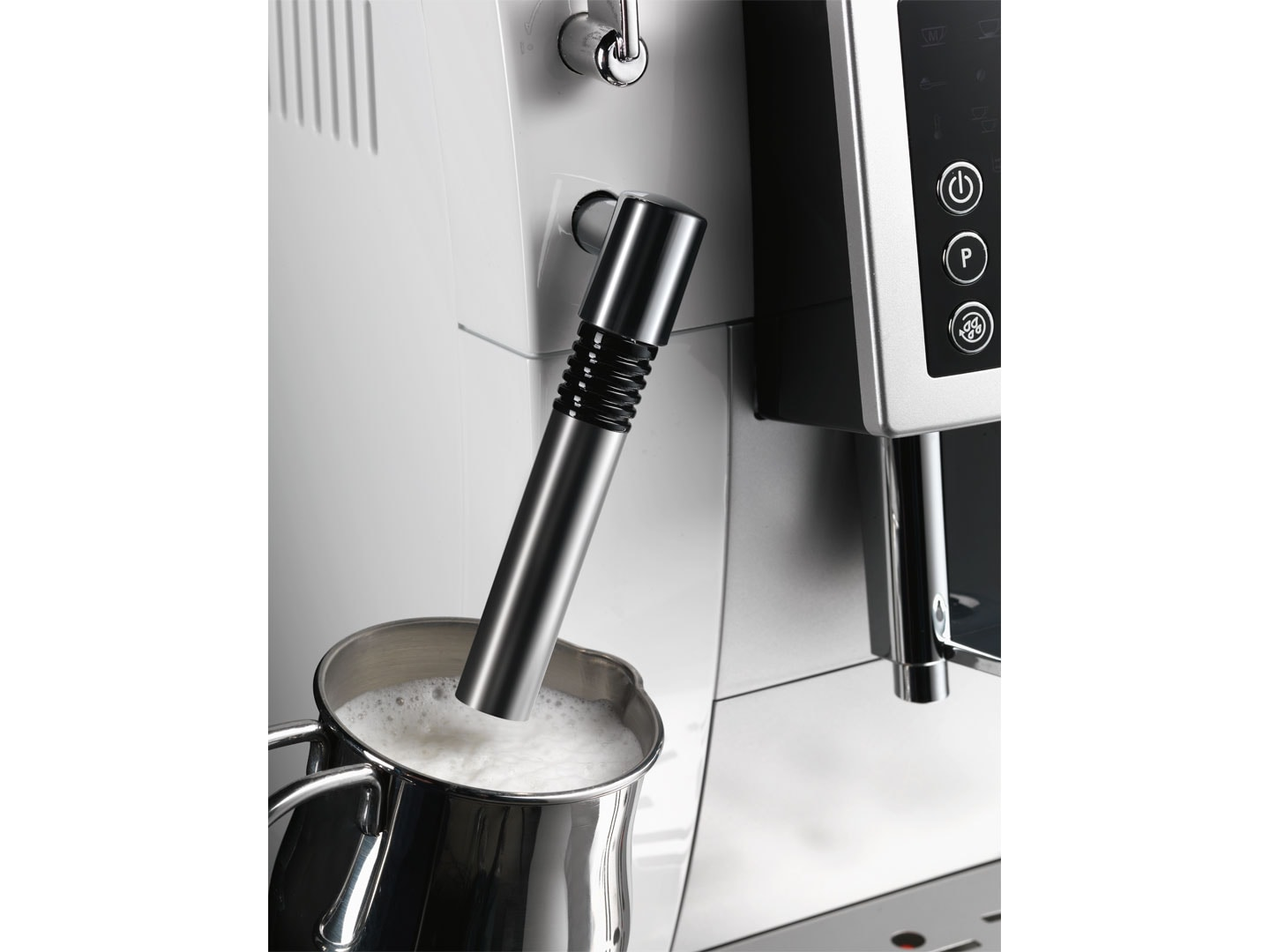 Factory Second: White Compact ECAM 23.210.W Fully Automatic Coffee Machine Detail