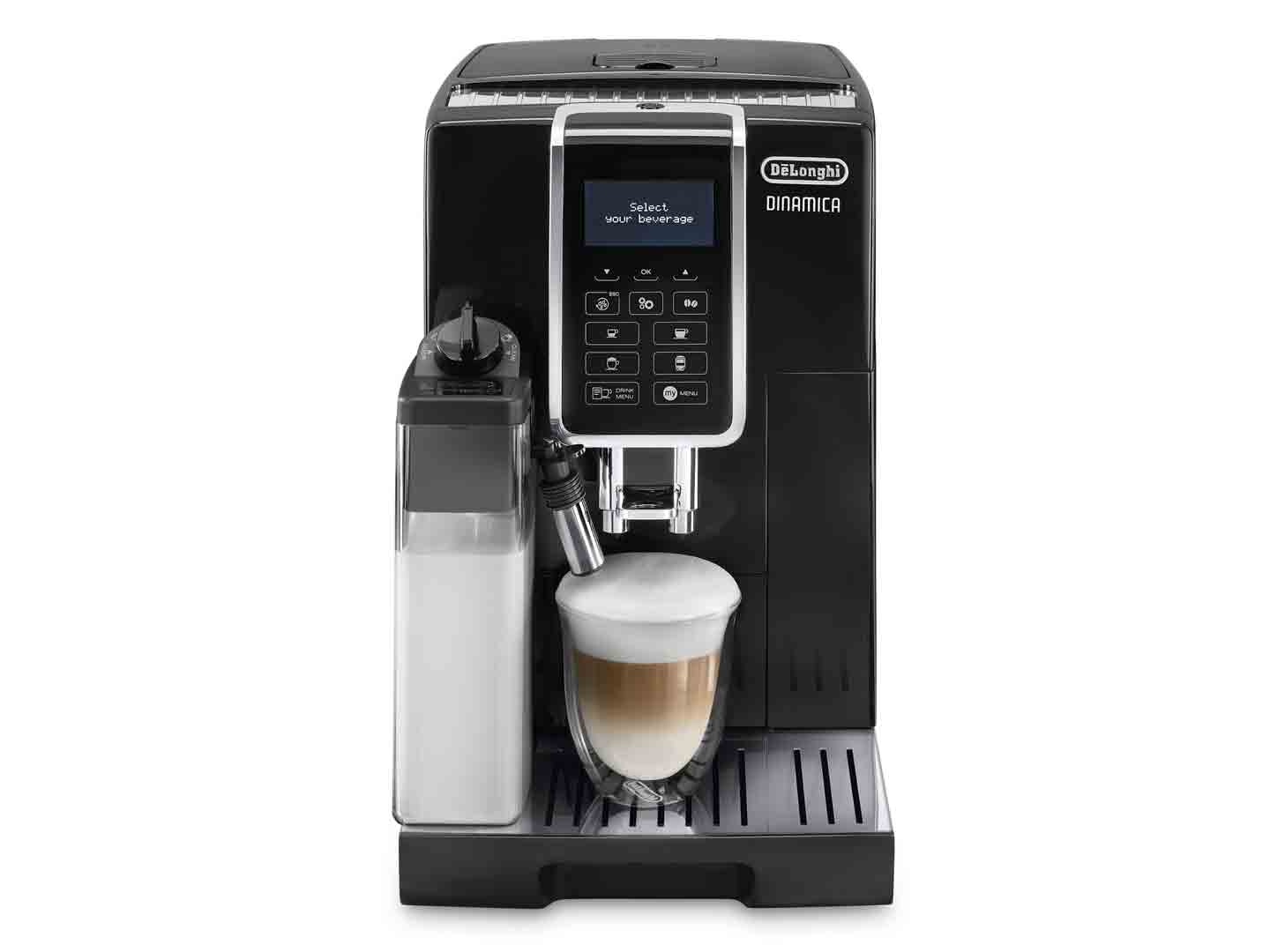 Dinamica ECAM 35055B Fully Automatic Coffee Machine makes Cappuccino at the touch of a button