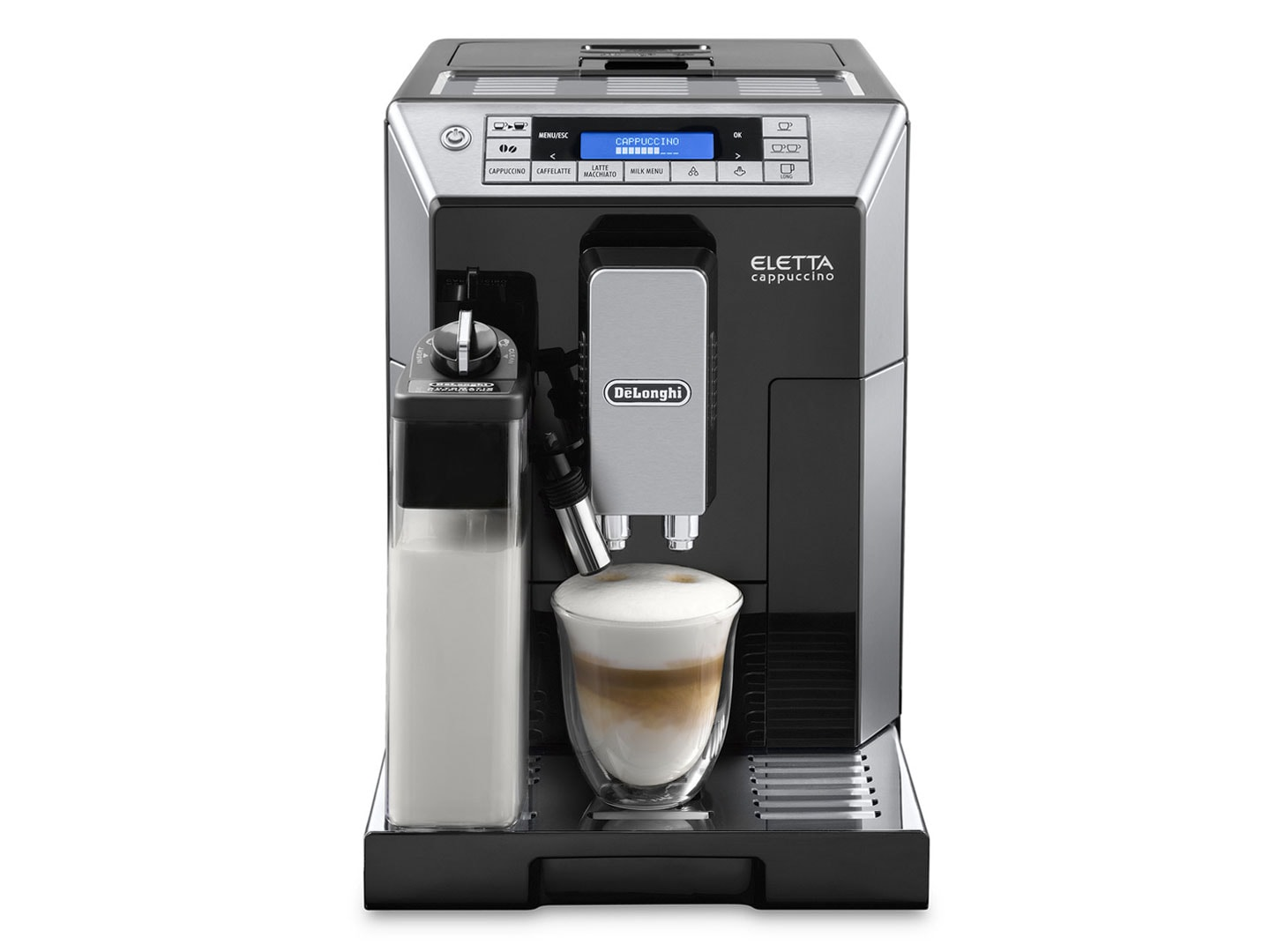 Eletta Cappuccino ECAM45760B automatic coffee machine, espresso machine, delonghi