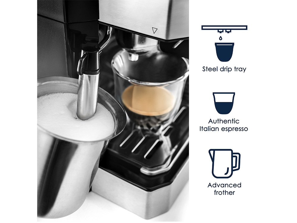 All In One Coffee Espresso Maker With Advanced Milk Frother Bco430 De Longhi Us