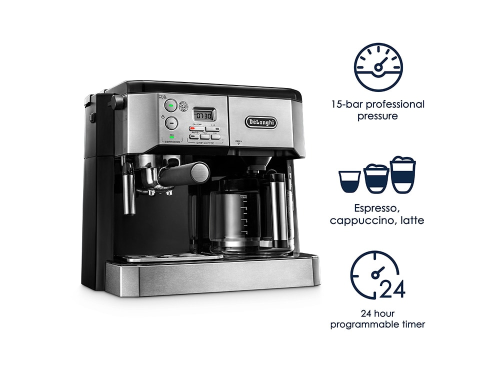 delonghi BCO430BM review - coffee espresso combo machine