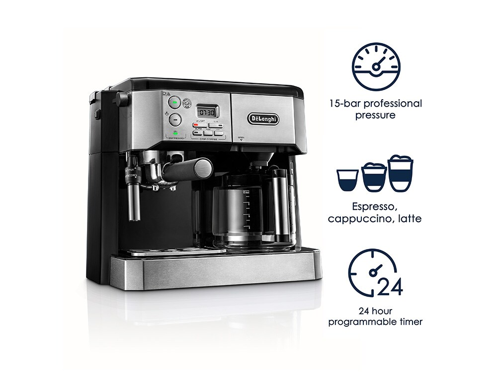 All-in-One Coffee & Espresso Maker, Cappuccino, Latte Machine + Advanced Adjustable Milk Frother - BCO432