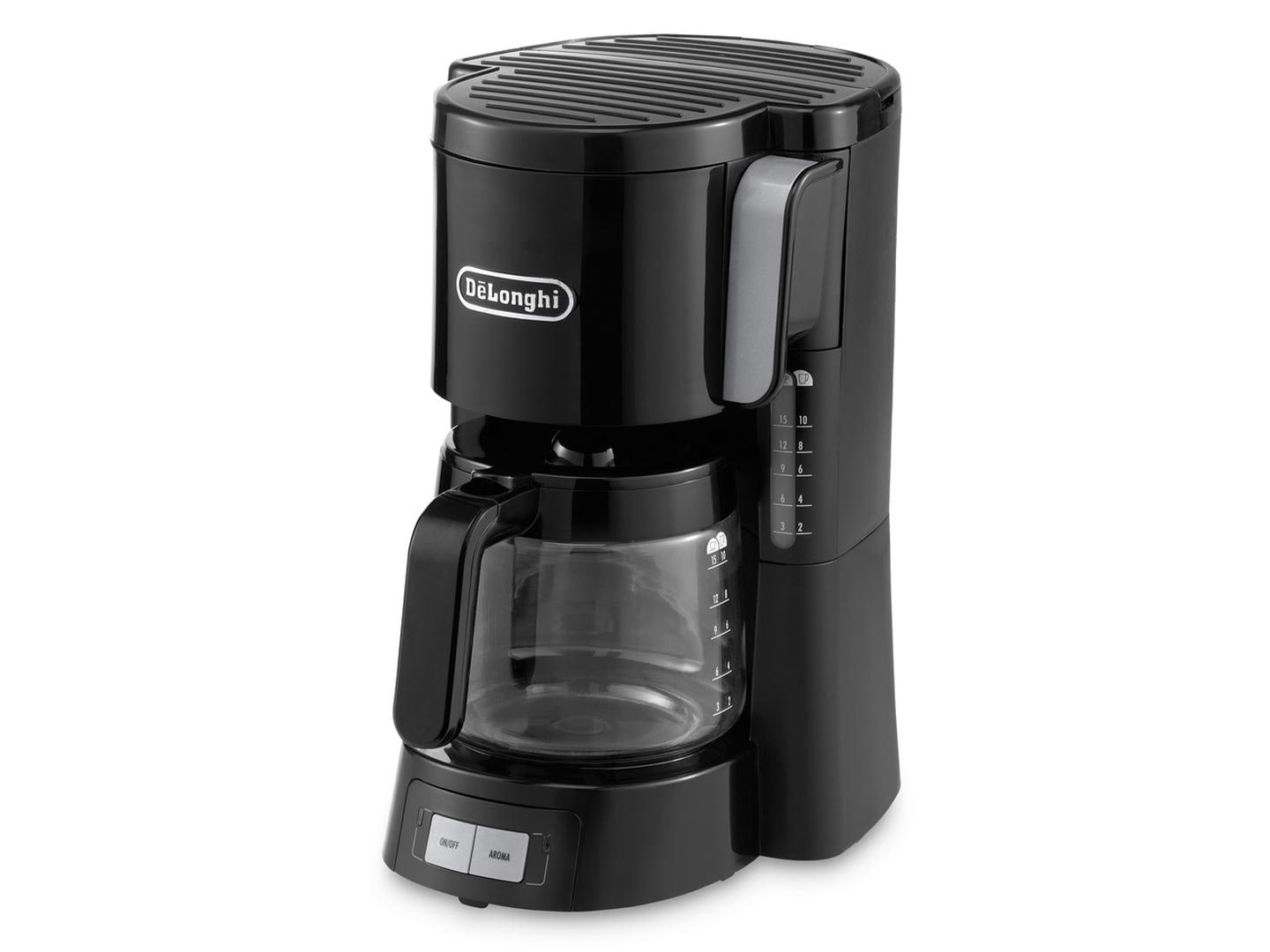Delonghi Filter Coffee Maker : The De Longhi ICM15240 filter coffee maker features a warming plate, auto shut-off, water level ...
