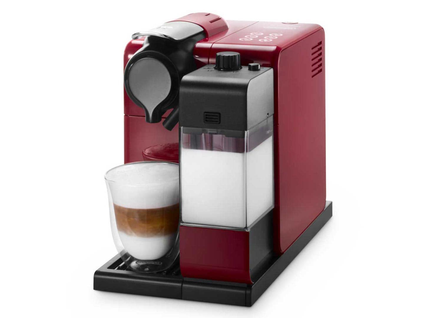 delonghi en550r lattissima touch nespresso coffee machine red ebay. Black Bedroom Furniture Sets. Home Design Ideas
