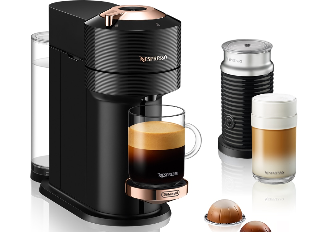 Nespresso Next Black with Rose Gold, ENV120BAE