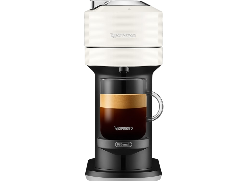 Nespresso Vertuo Next Coffee and Espresso Machine with Aeroccino by De'Longhi, White, - ENV120WAE