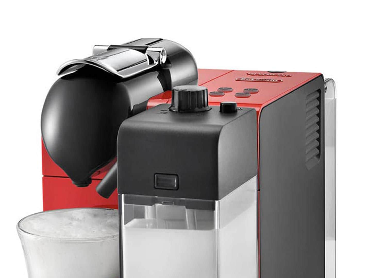 Nespresso Lattissima Plus Latte, Cappuccino, and Espresso Machine by De'Longhi, Red  - EN 520.R