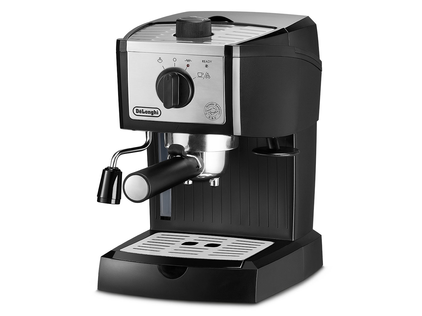 b92cec97c9b The De Longhi EC155M Pump Espresso Machine brings the coffeehouse to your  home. This compact machine is so simple to use