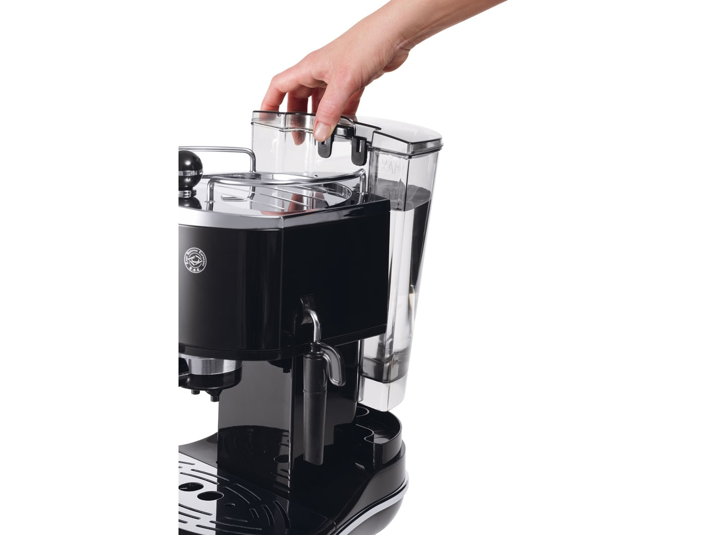 Icona Manual Espresso Machine - Black - ECO310BK