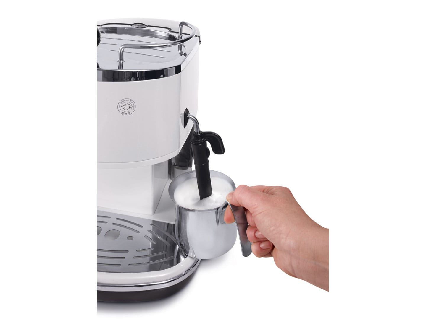 Icona Pump Espresso ECO310W - White  coffee machine with cup warmer by delonghi australia