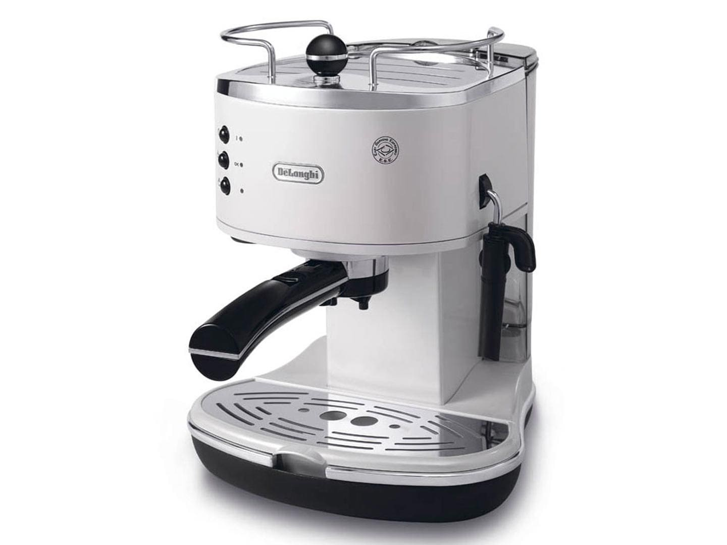 ECO310W Icona Pump Espresso - White with manual milk frothing wand