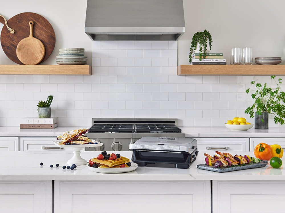 Livenza Compact All Day Grill 3-in-1 Waffle, Grill & Griddle Plates -  - SW13ABCS