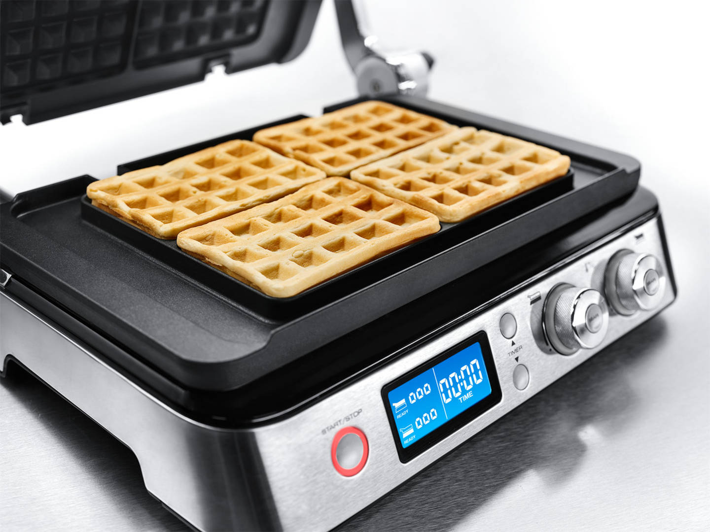 Livenza Digital All-Day Grill with Waffle Plates - - CGH1030D