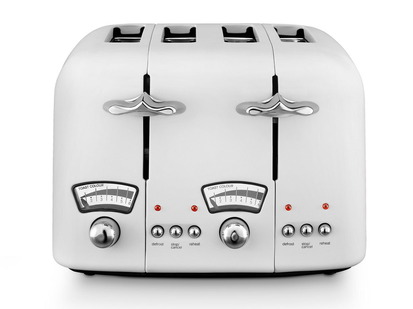 DeLonghi Argento 4 Slice Toaster White CT04W1