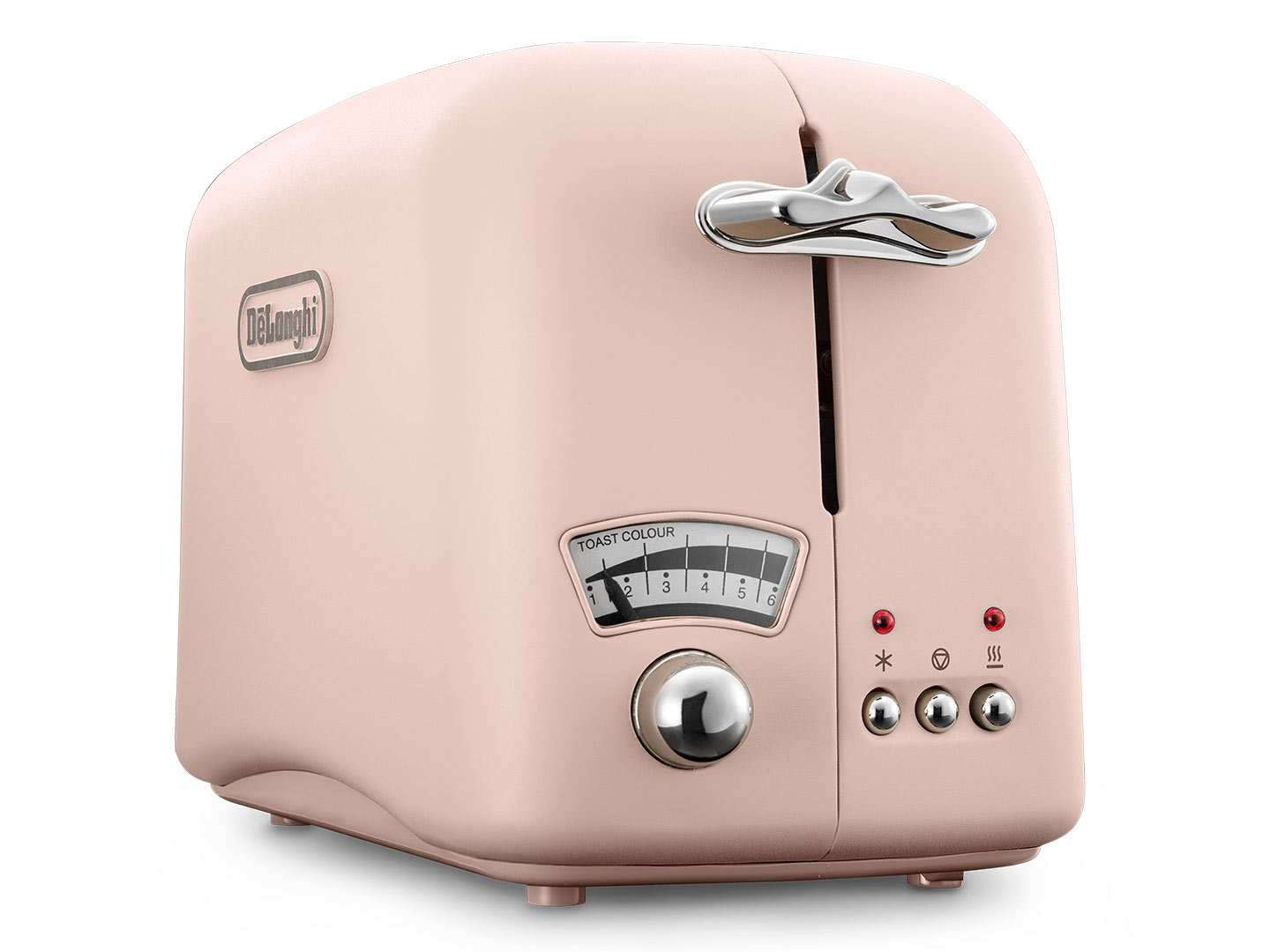 DeLonghi Argento Flora 2 Slice Toaster Peony Rose CT02PK