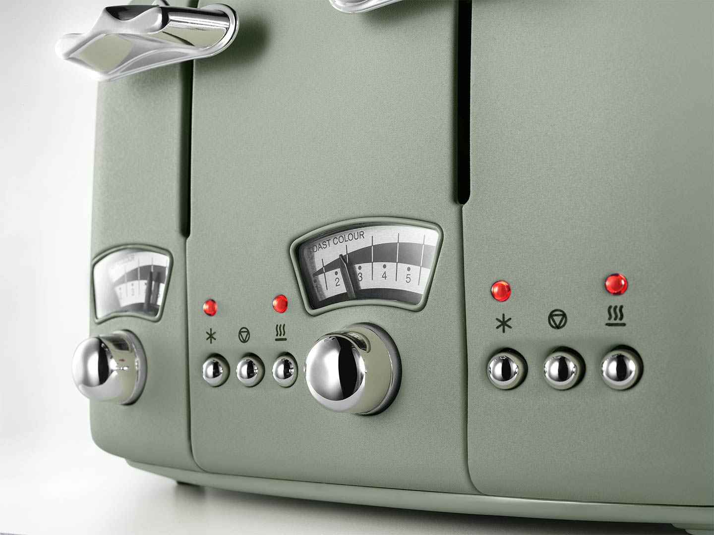 DeLonghi Argento Flora 4 Slice Toaster Peppermint Green CT04GR