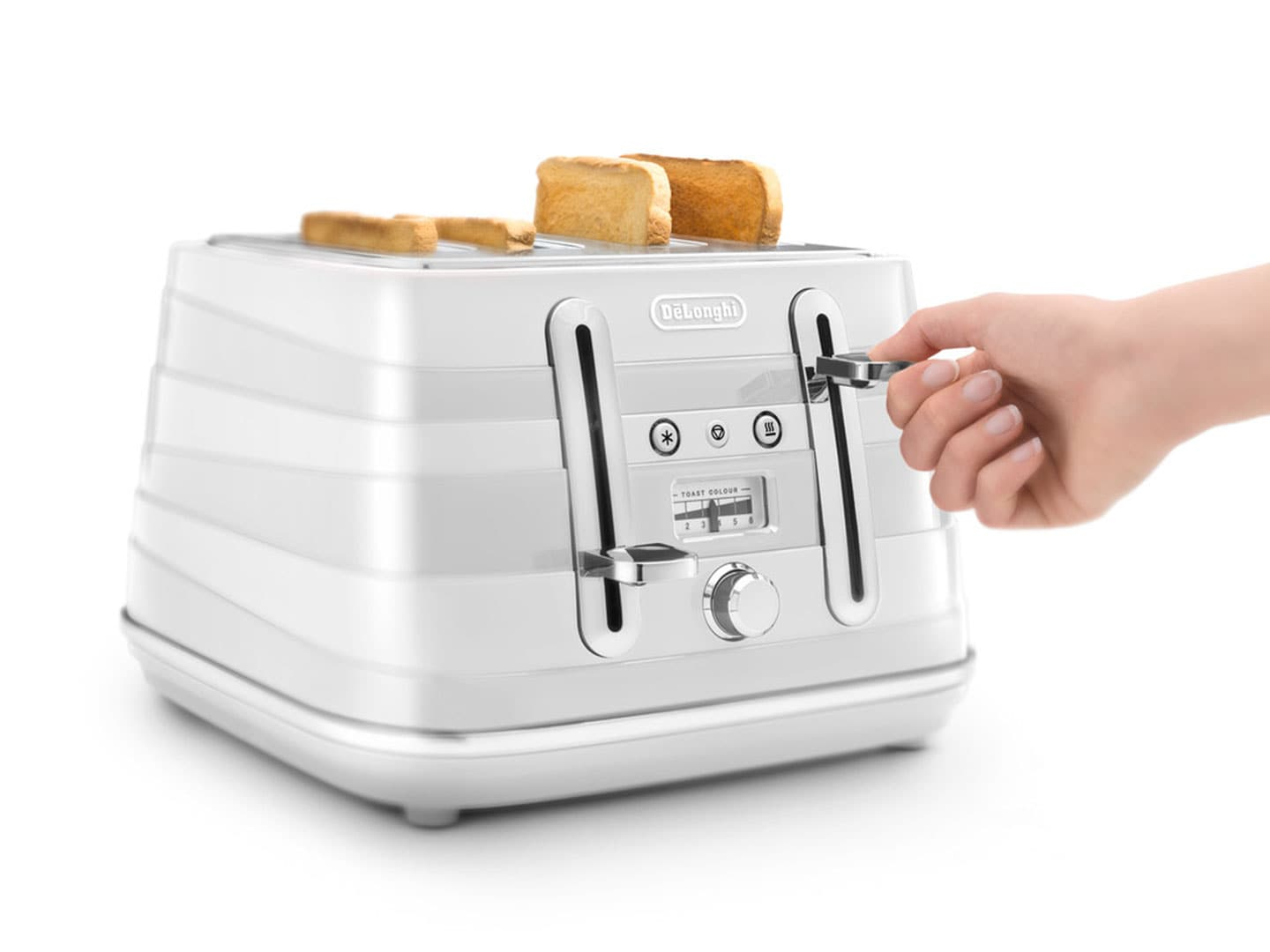 Clearance Stock: Avvolta 4 Slice Toaster - White - CTA 4003.W
