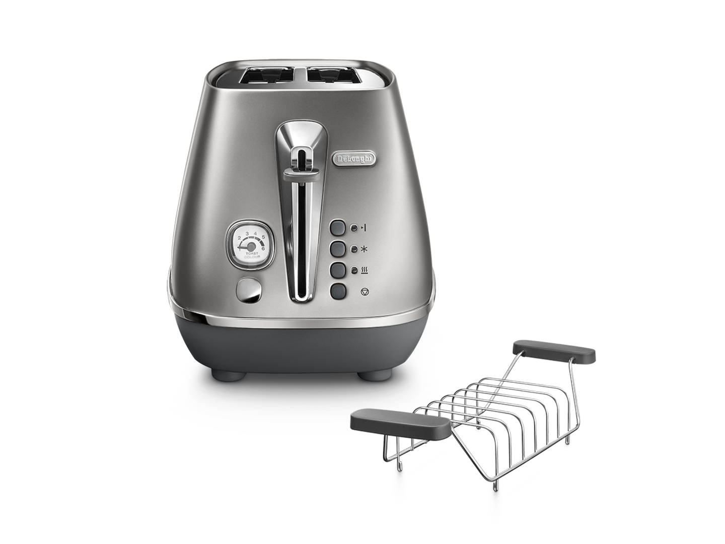 Distinta Flair 2 slice toaster – Finesse Silver CTI2103.S