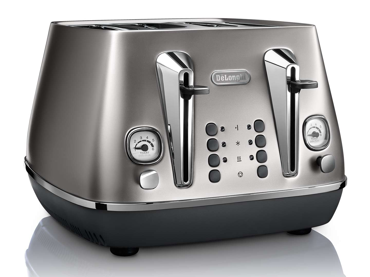 Clearance Stock: Distinta Flair 4 Slice Toaster - Finesse Silver  - CTI4003.S