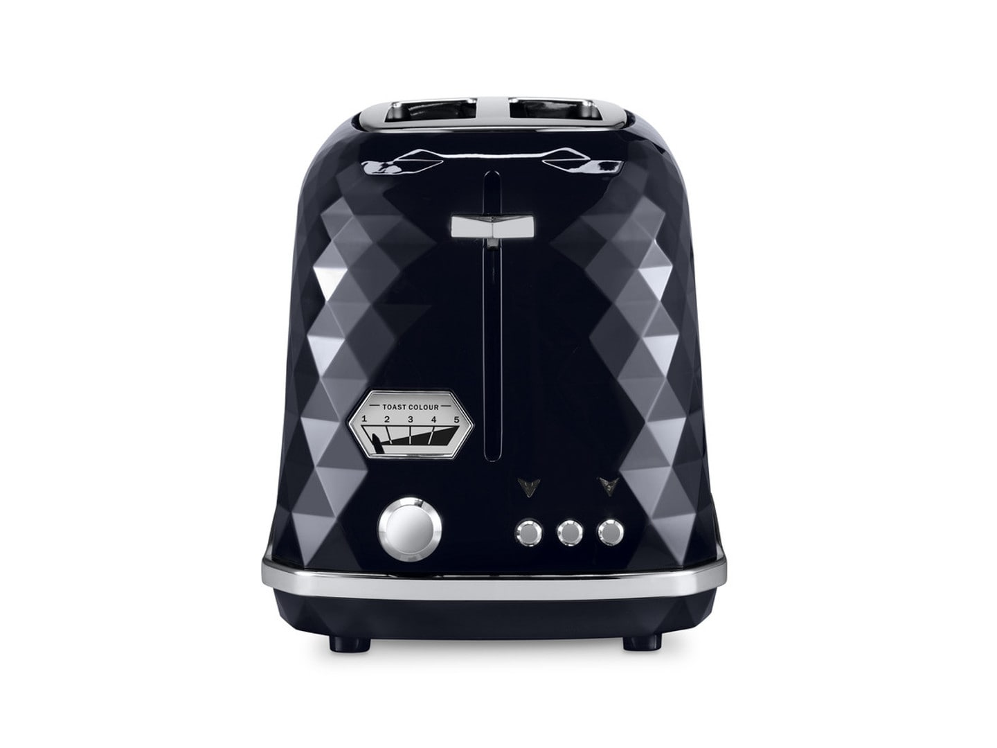 DeLonghi Brillante Exclusive 2 Slice Toaster Black CTJX2103.BK