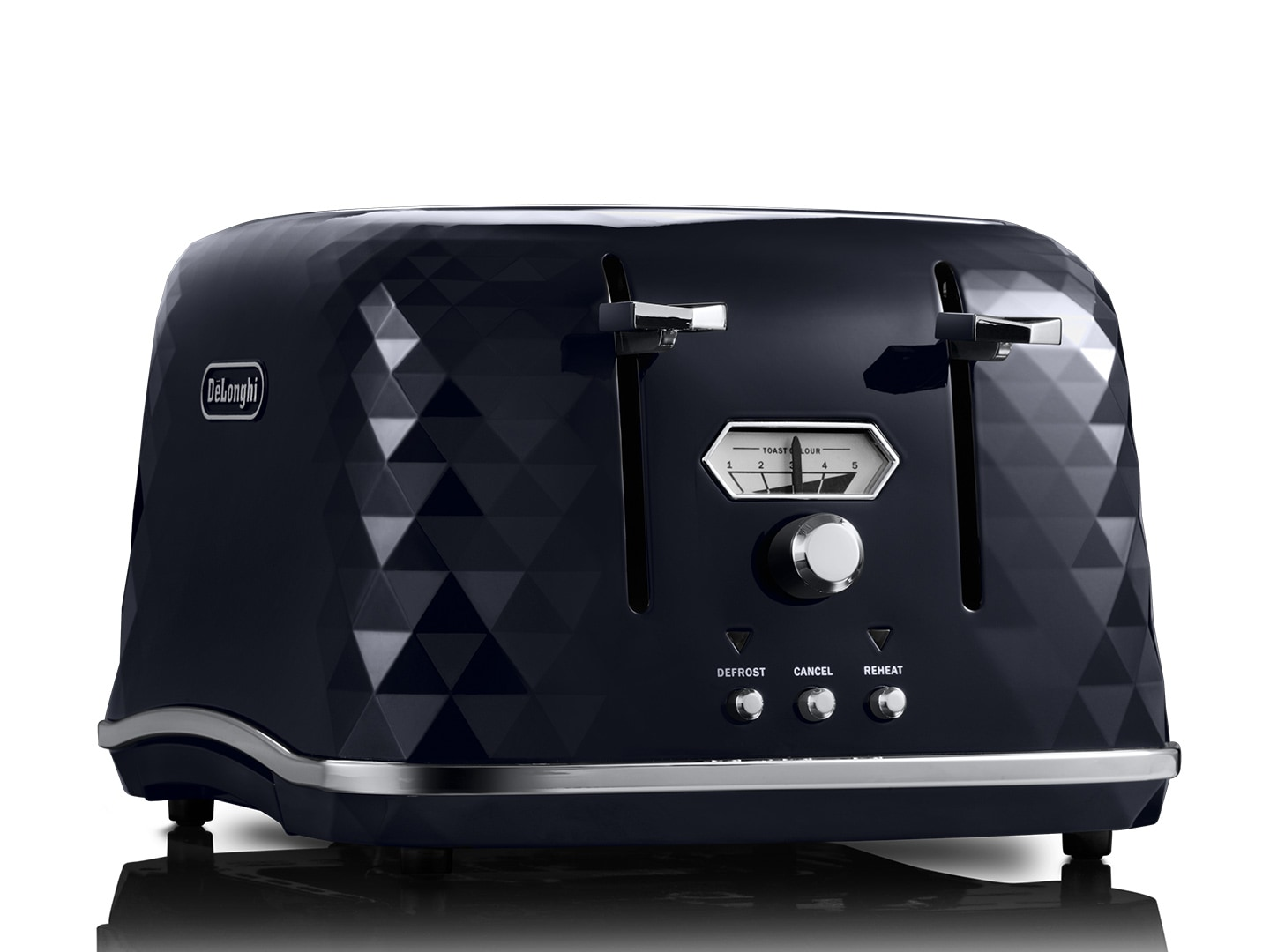 DeLonghi Brillante Exclusive 4 Slice Toaster Black CTJX4003BK