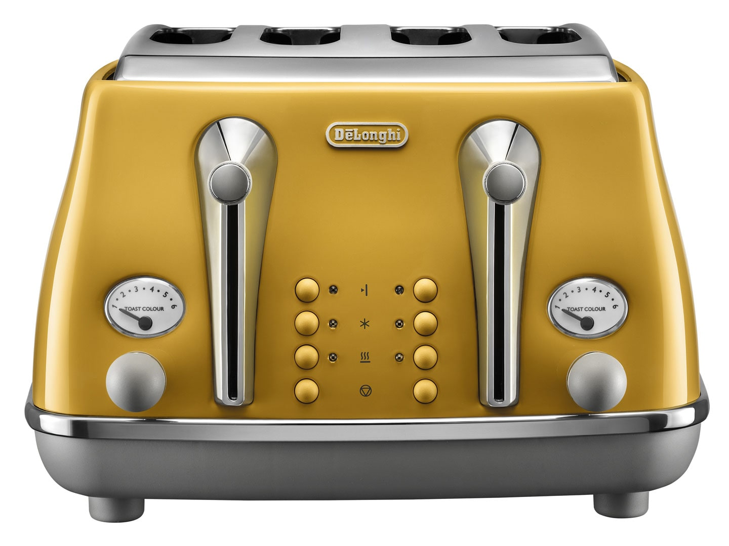 DeLonghi Icona Capitals 4 Slice Toaster - New York Yellow CTOC 4003.Y