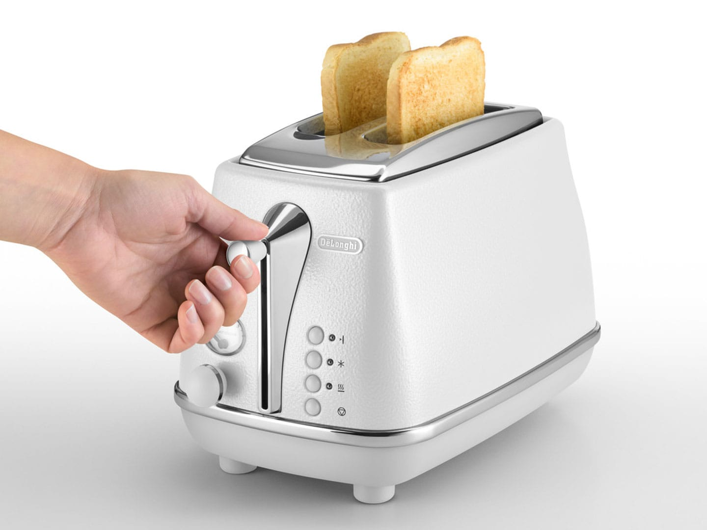 Icona Elements 2 Slice Toaster - Cloud White CTOE 2003.W