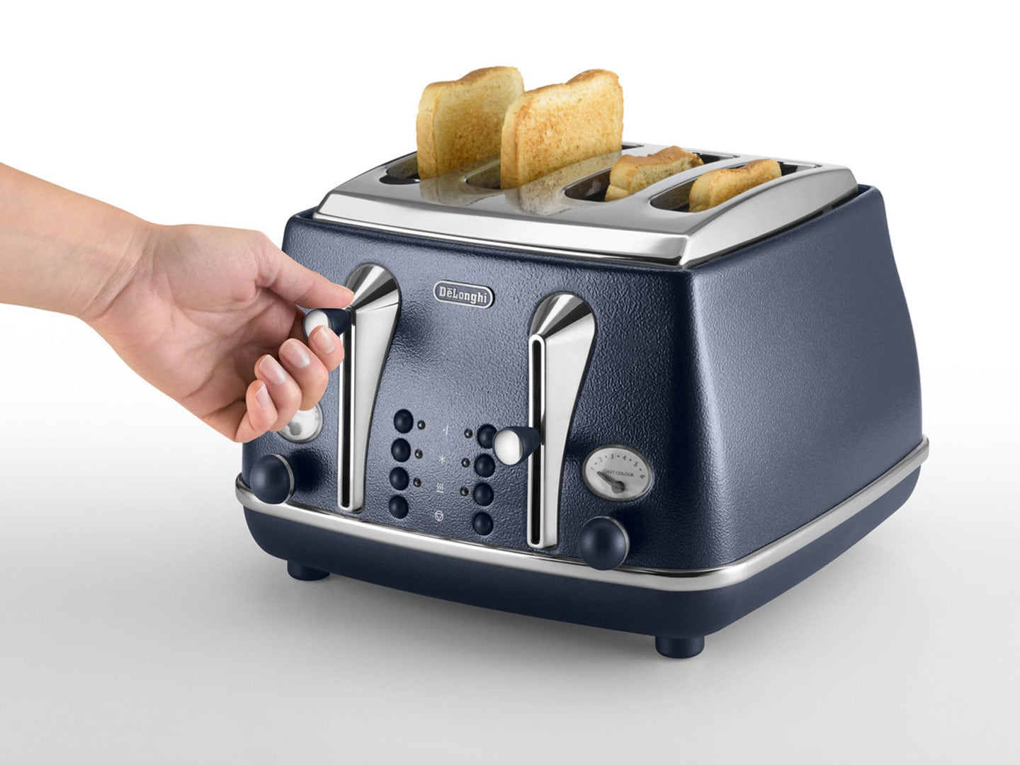 Clearance Stock: Icona Elements 4 Slice Toaster - Ocean Blue - CTOE 4003.BL