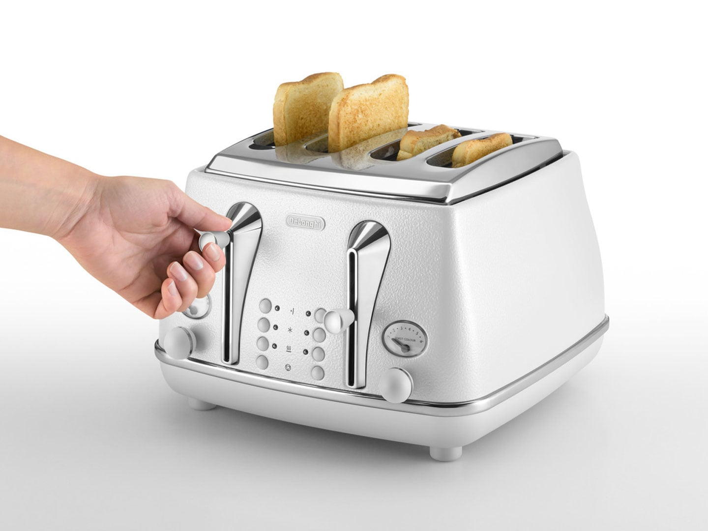 DeLonghi Icona Elements 4 Slice Toaster Cloud White CTOE4003W