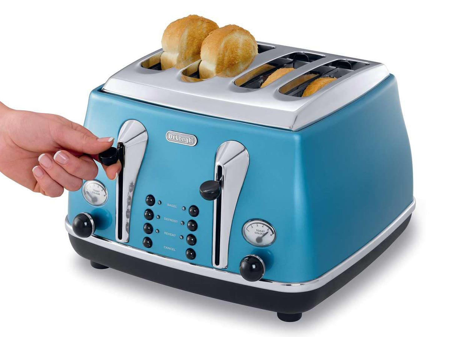 Icona Blue 4 Slice Toaster - CTO4003B