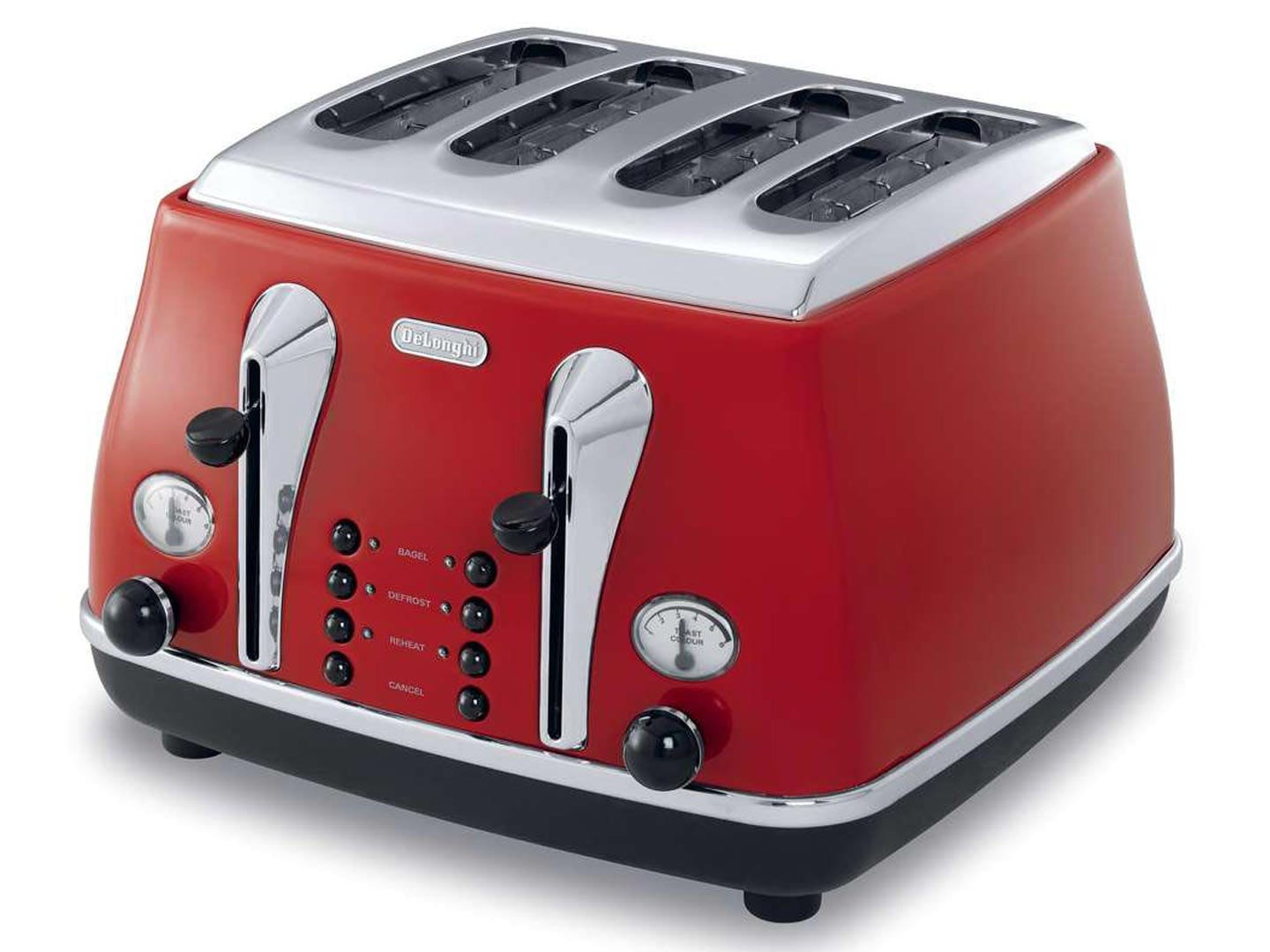 Icona Red 4 Slice Toaster CTO4003R