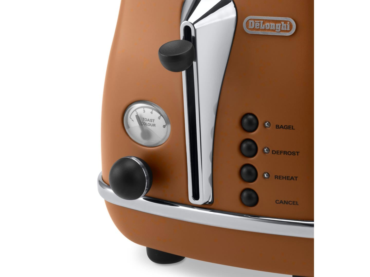 DeLonghi Icona Vintage Brown 2 Slice Toaster CTOV2003BW