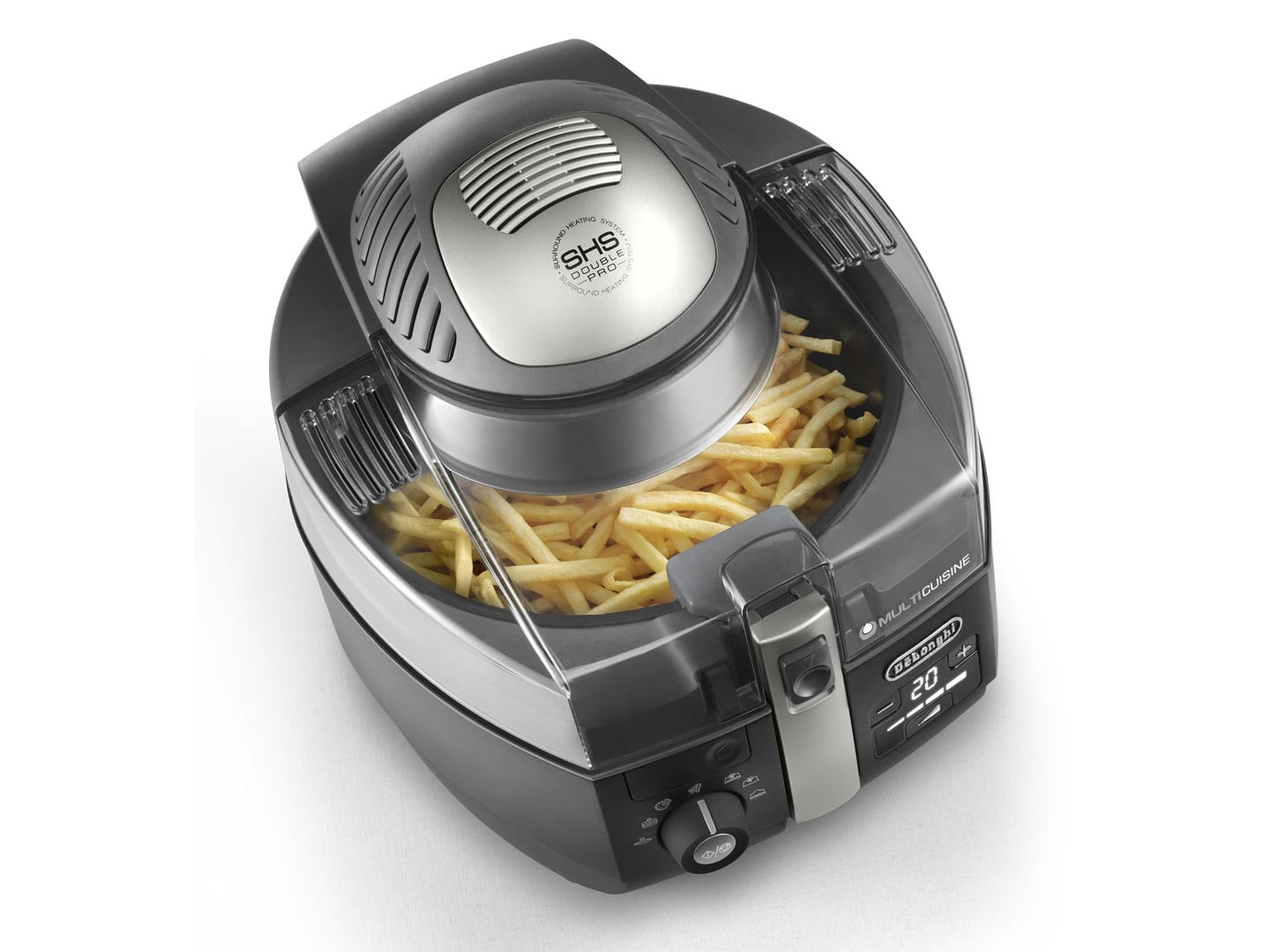 Fritadeira Air Fryer Multicuisine De'Longhi Digital 5,2L - FH1394/1.BK-127V