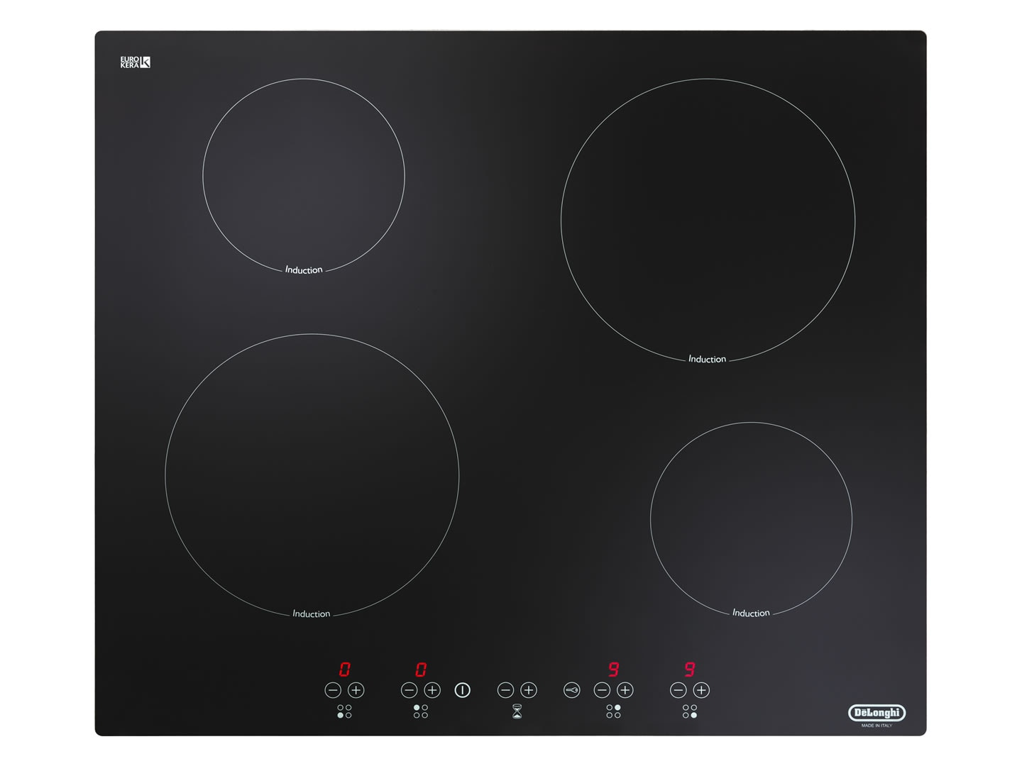 60cm 4 Zone Ceramic Glass Induction - DEIND64C
