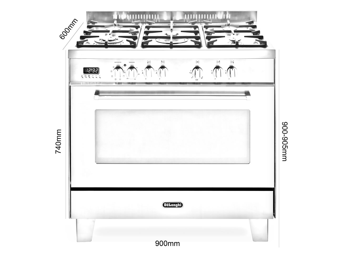 Freestanding 90cm Stainless Steel Dual Fuel Cooker - DEFP907S - Installation Diagram