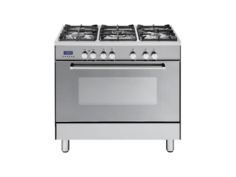 Freestanding Oven with Gas Cooktop and Wok DEF905GW1