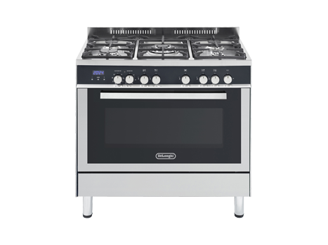 DeLonghi 90cm Freestanding Multifunction Oven/Stove Stainless Steel DEF909GW