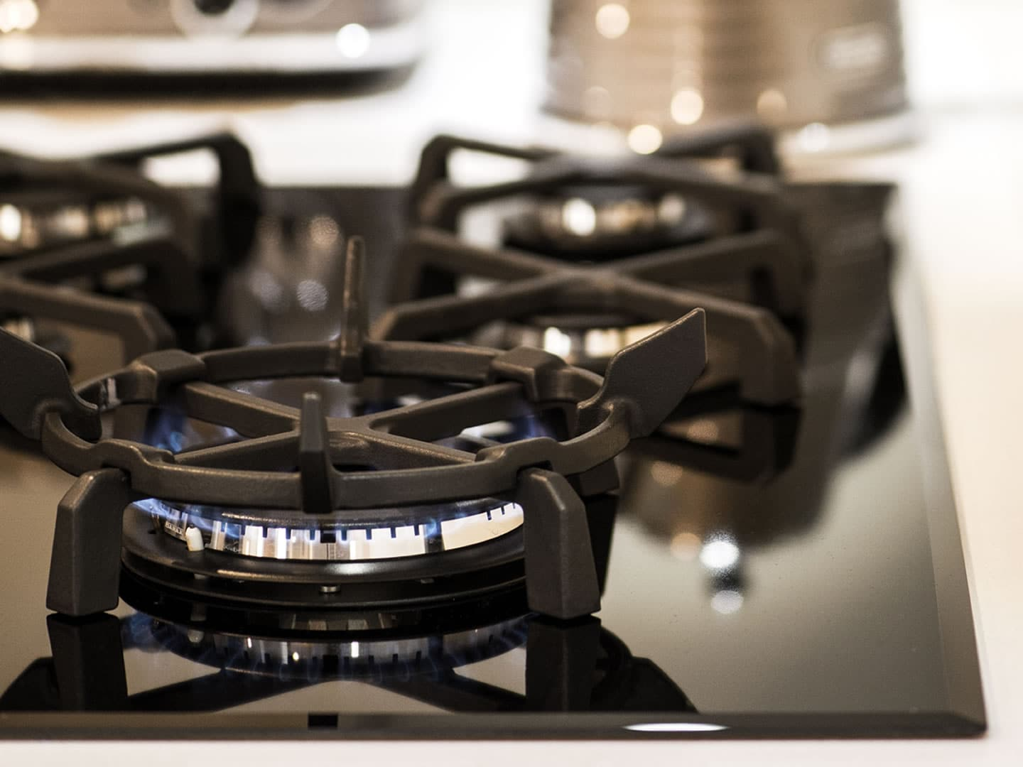 Gas Cooktop 5 Burner - 90cm - Black Ceramic Glass DEGH90BG