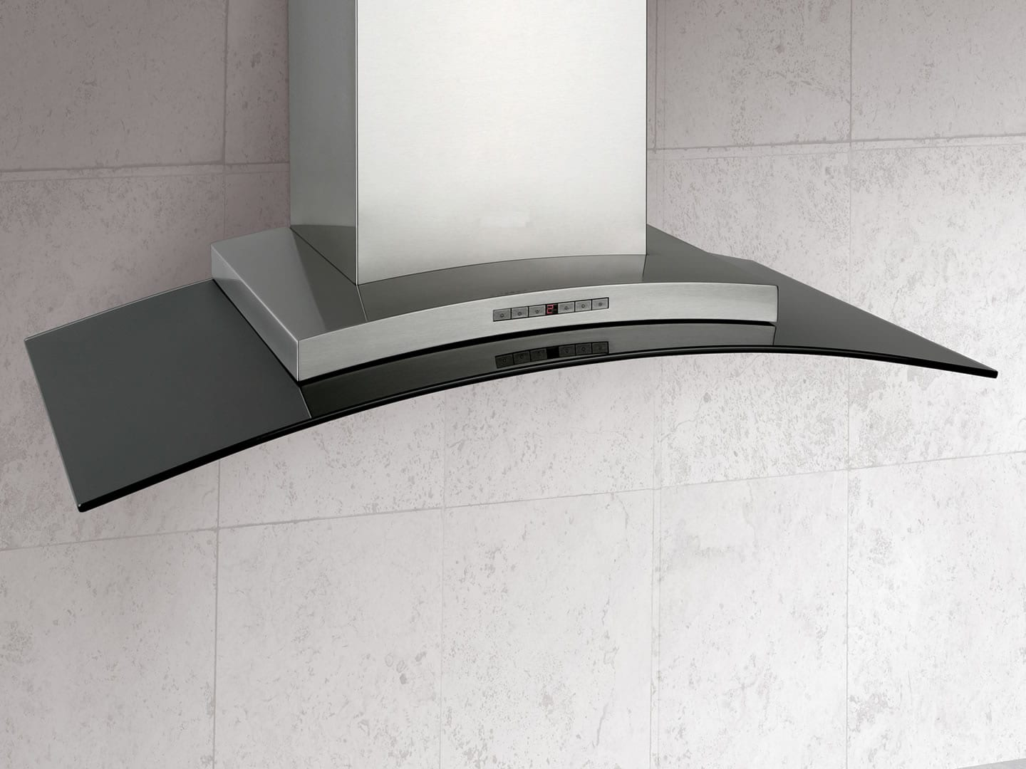 DeLonghi Canopy Rangehood 90cm Stainless Steel and Glass DEARCO90