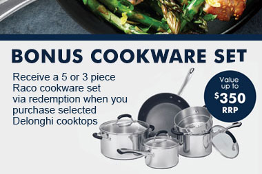 Bonus cookware offer with purchase