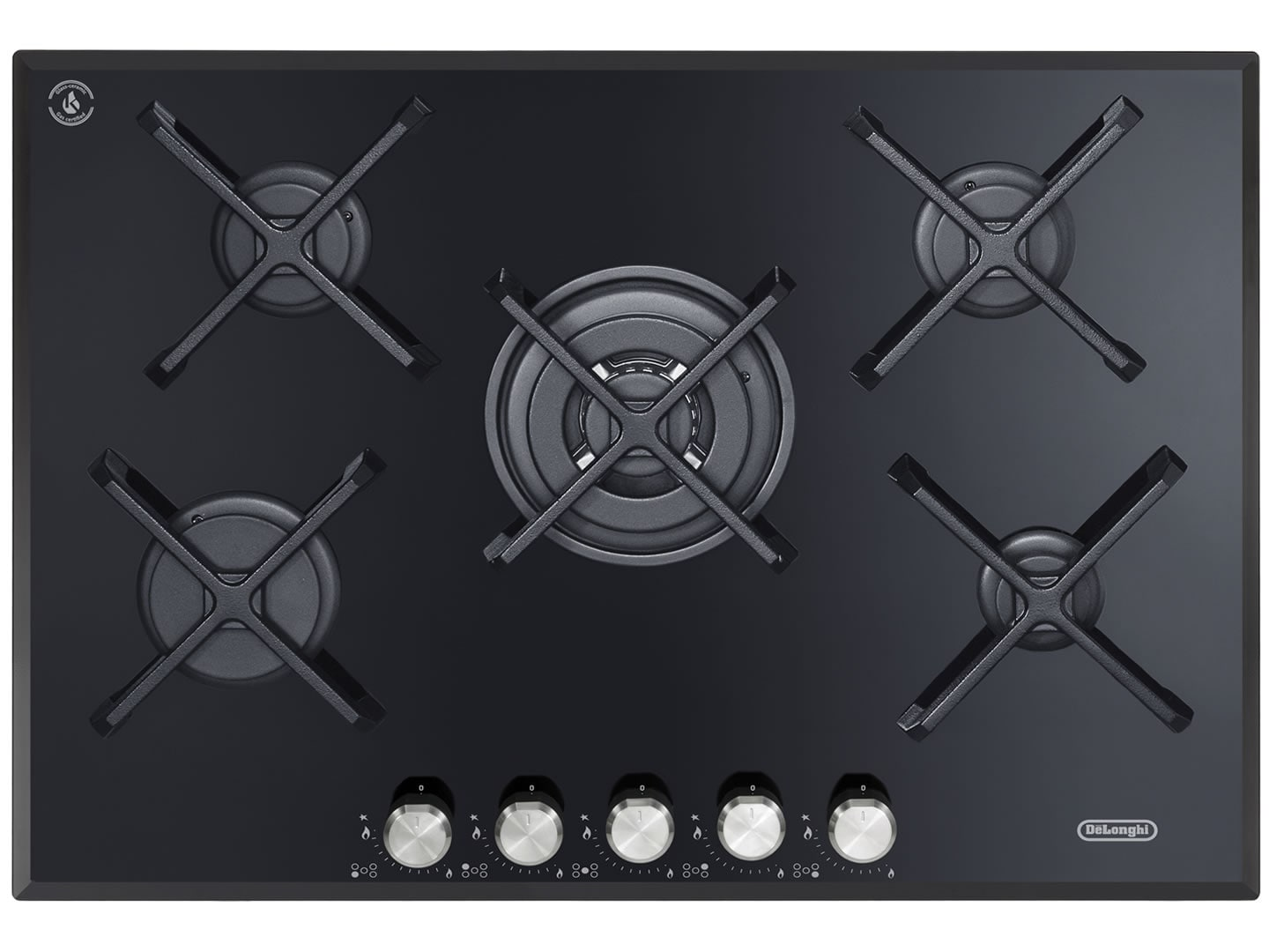 Gas Cooktop Glass 70cm 5 Burner Gas Cooktop Degh70bgx1 Delonghi Australia