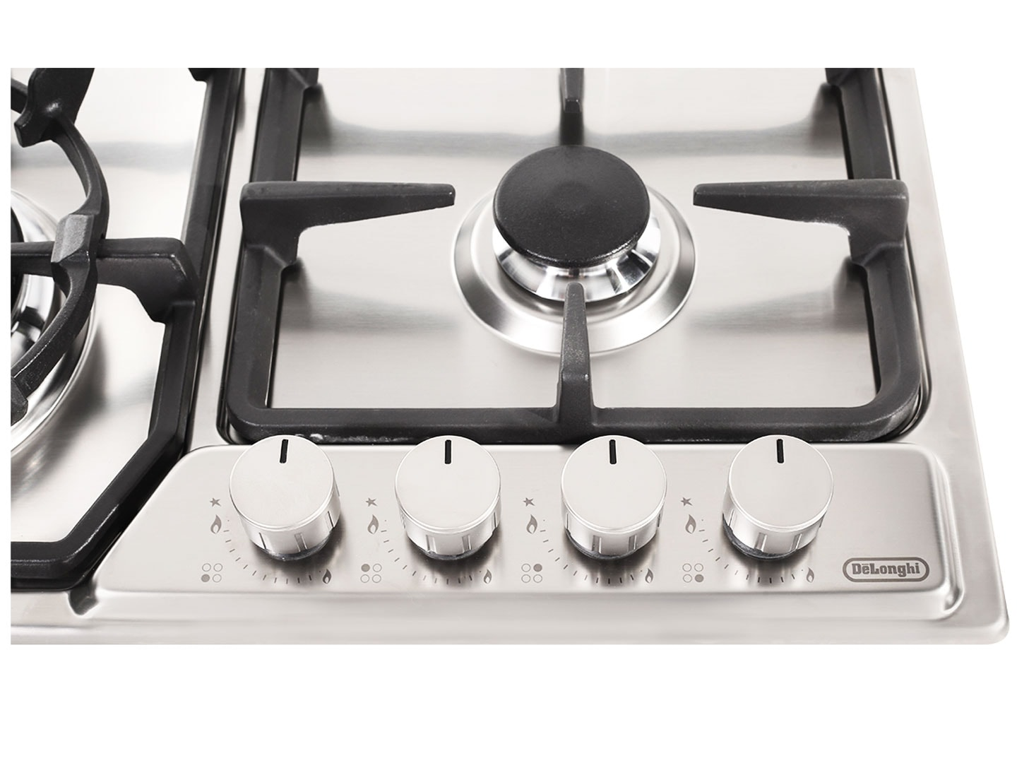 Stainless Steel 60cm Gas Cooktop with Wok Burner - DEGH60 Front Controls