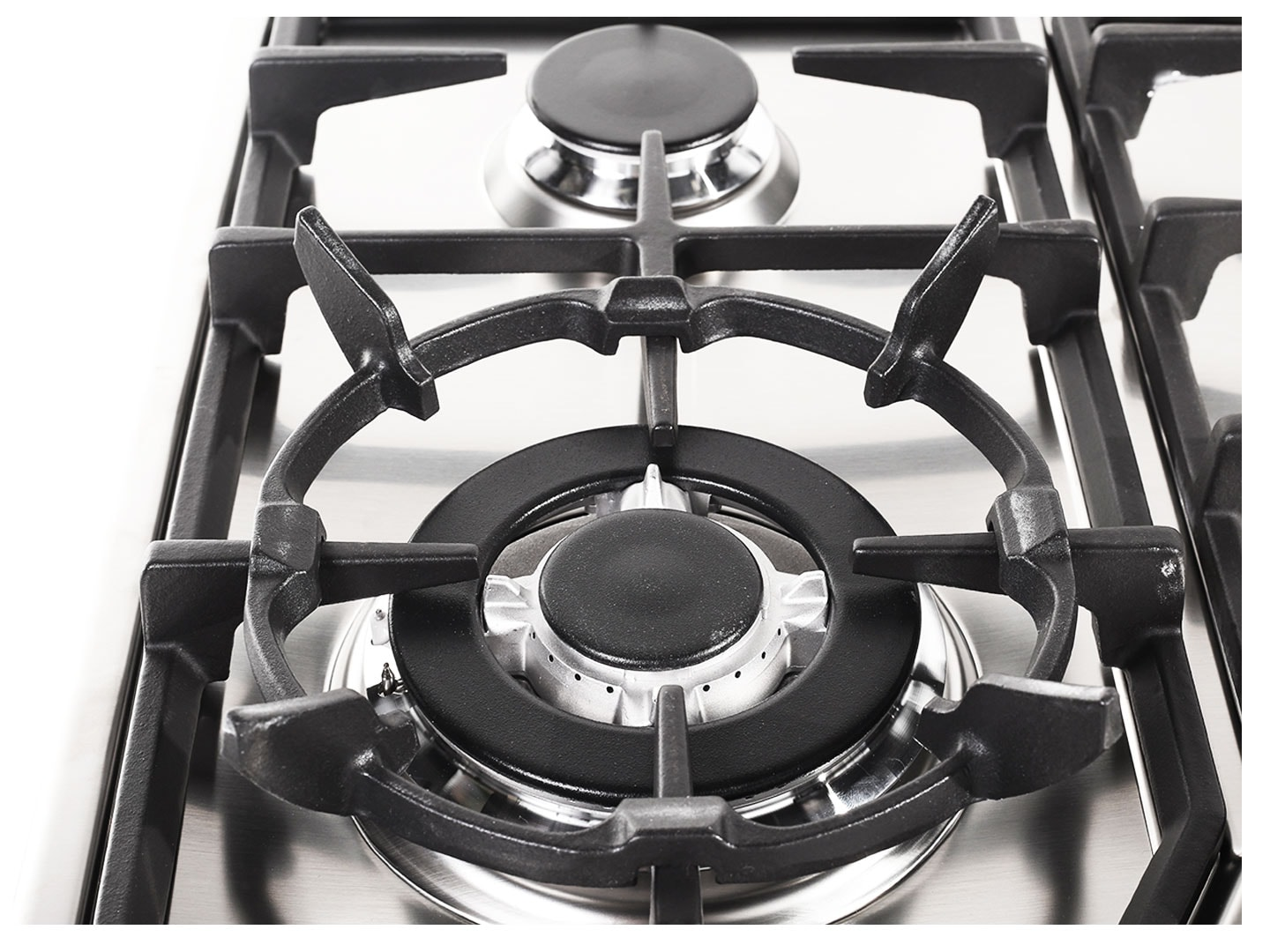 Stainless Steel 60cm Gas Cooktop with Wok Burner - DEGH60