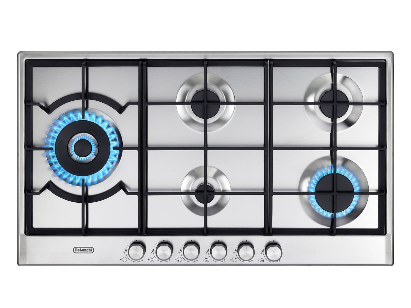Awesome 90cm 5 Burner Slimline Gas Cooktop DEGHSL90